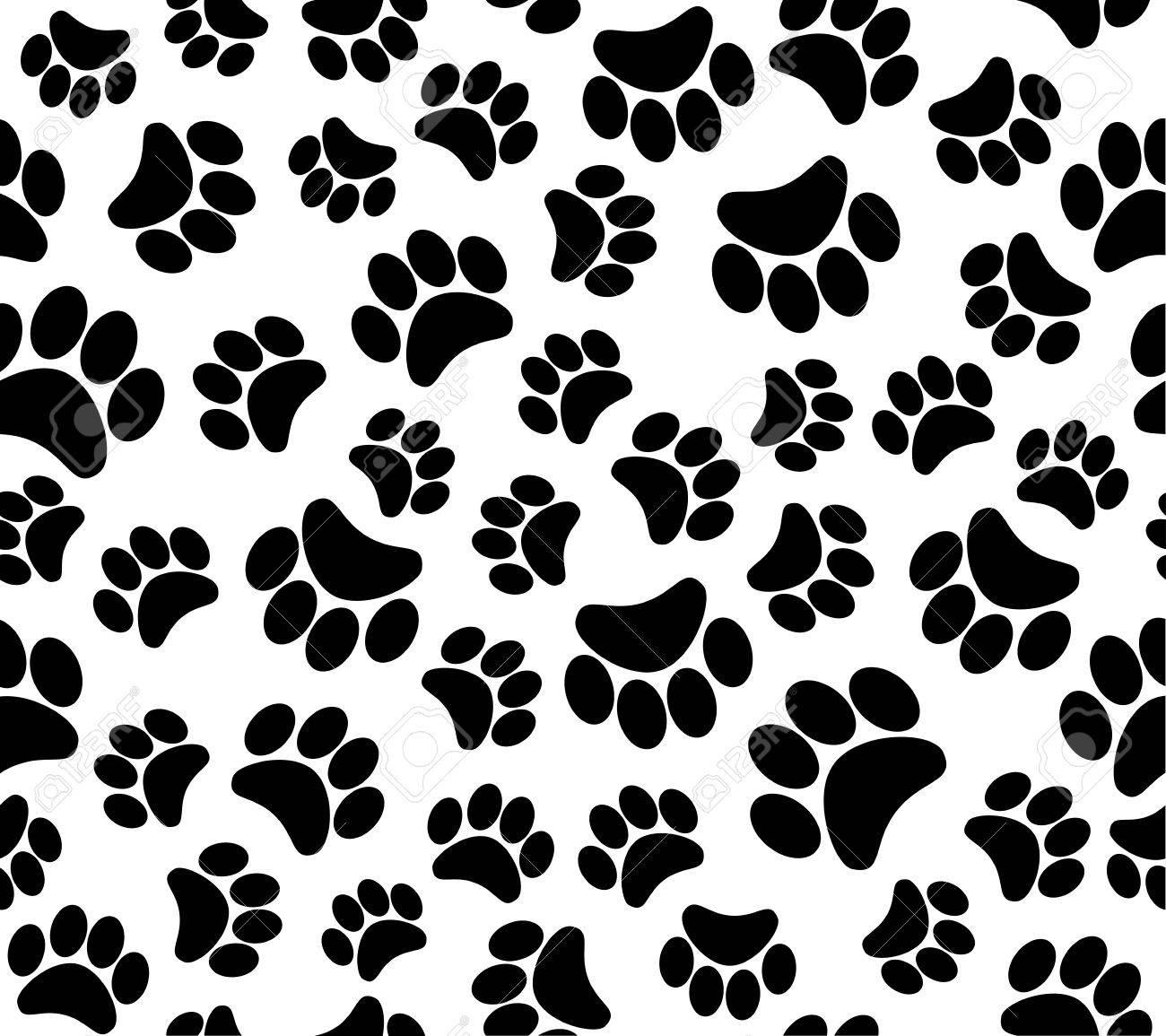 background animal footprints seamless pattern - 31024397