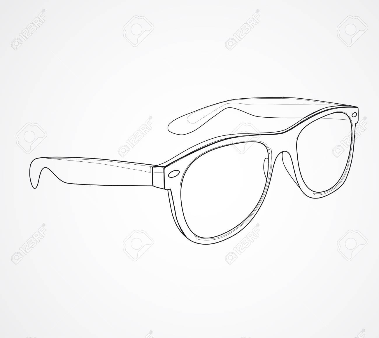 Sunglasses isolated illustration - 31104679