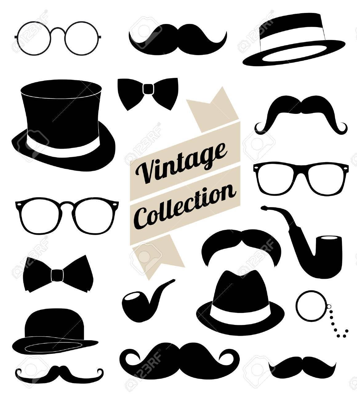 set of collection vintage fashion elements - 31024435