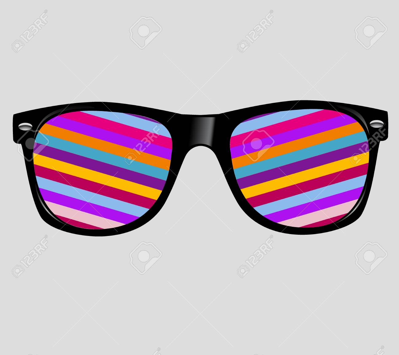sunglasses with abstract geometric. - 31104755