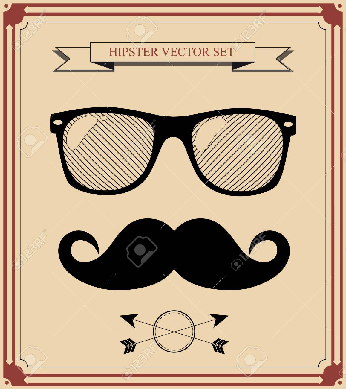 set of Hipster man style graphic elements. - 31104759