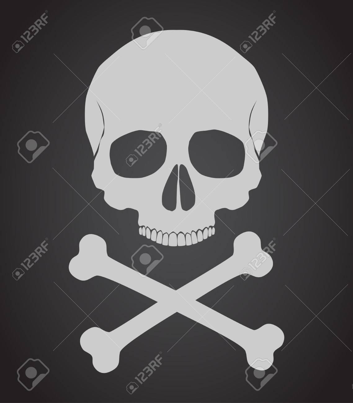 Skull and crossbones vector illustration - 34866108