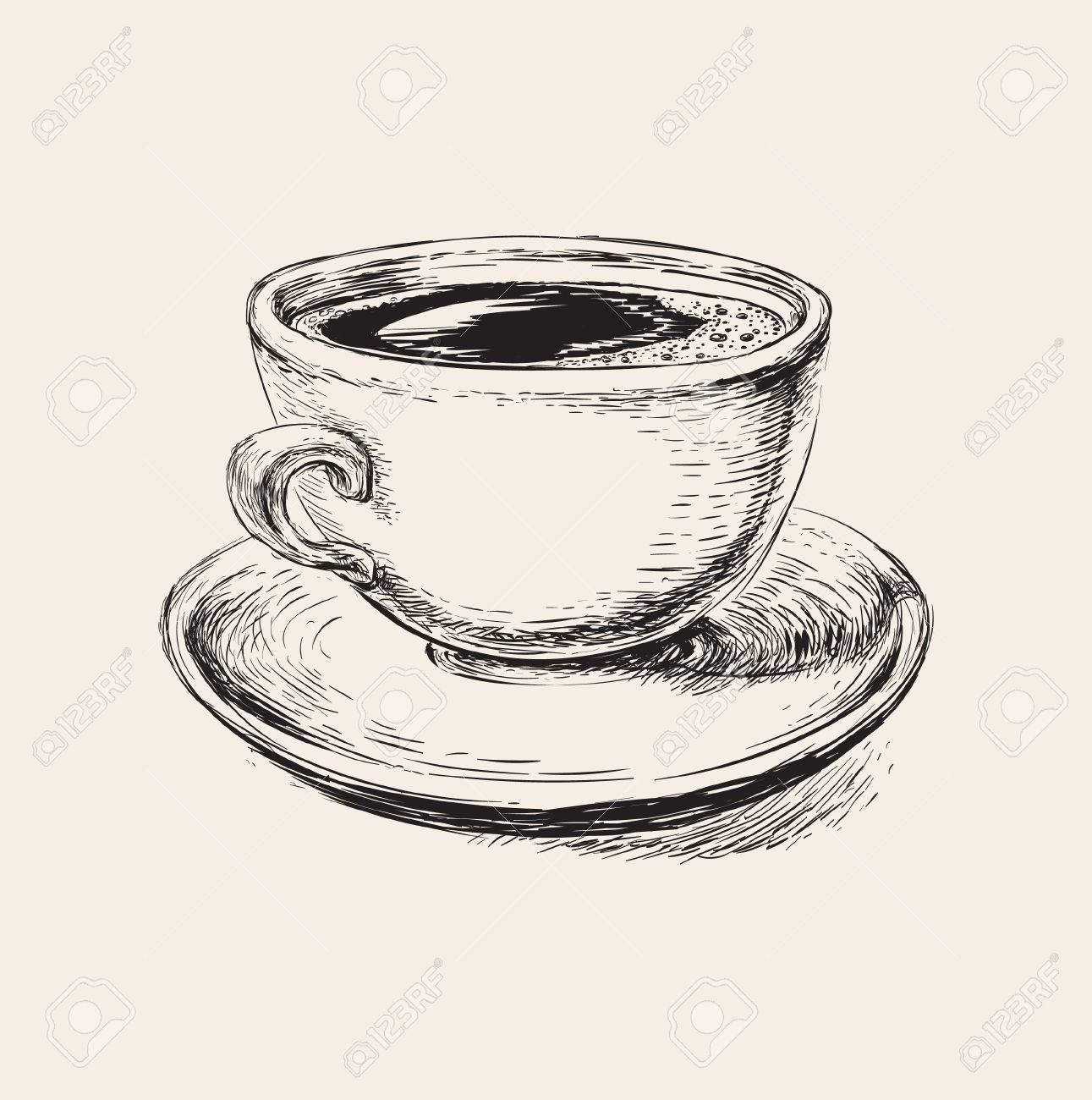 Sketch Coffee Cup Illustration Sketch Coffee Cup Illustration ...