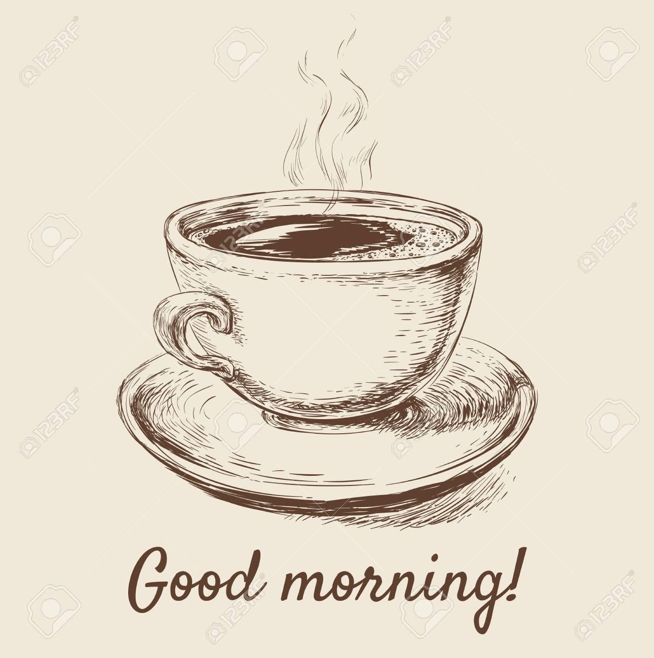 Hand Drawn Sketch Coffee Cup Vector Illustration Hand Drawn Sketch Coffee Cup Vector Illustration - 68608567
