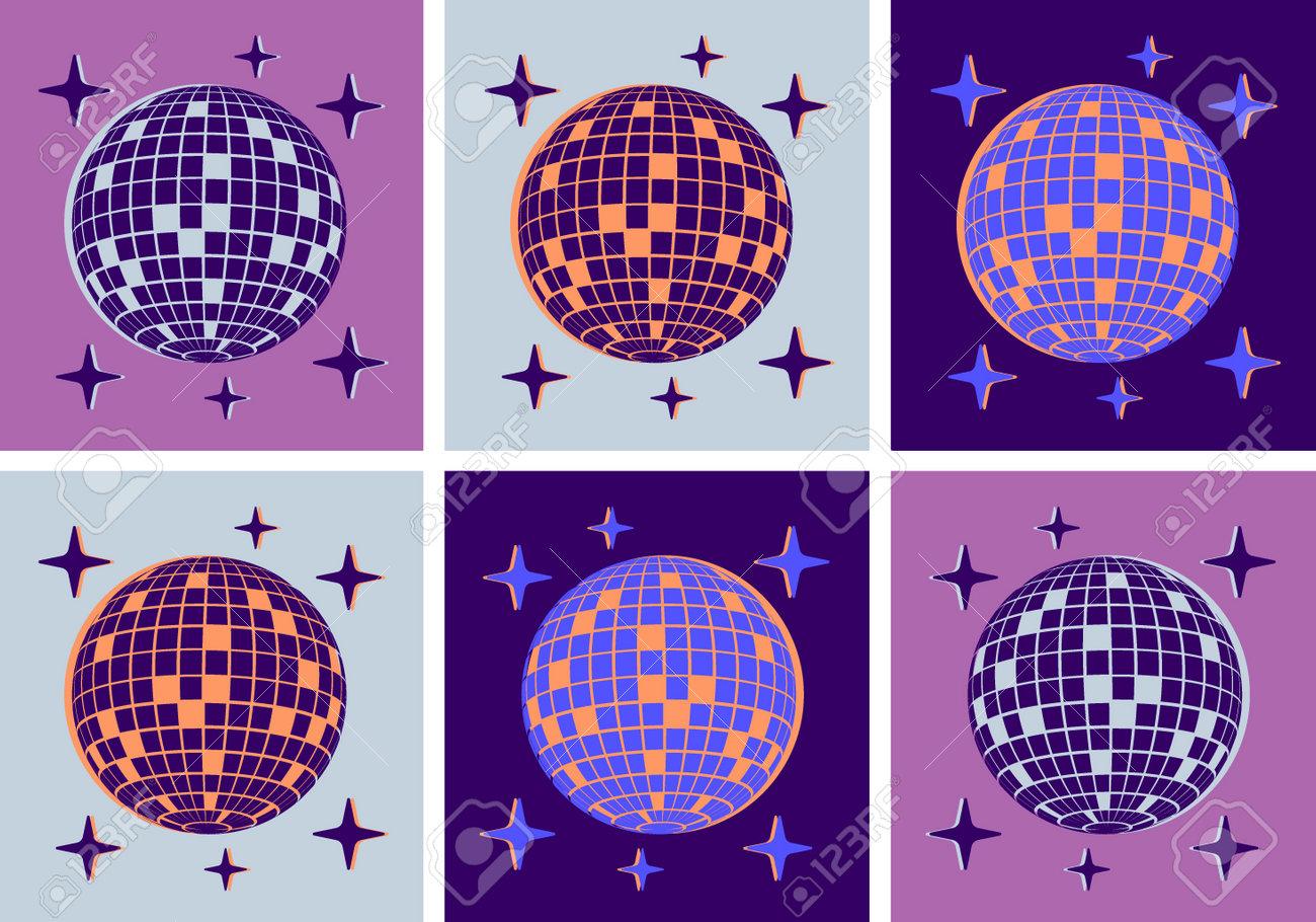 Disco Ball Illustration Pop Art Style Party - 170017709