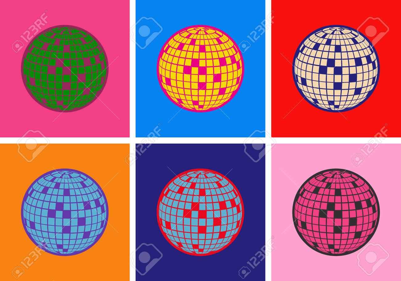 Disco ball Vector icon Pop Art Style - 170746983