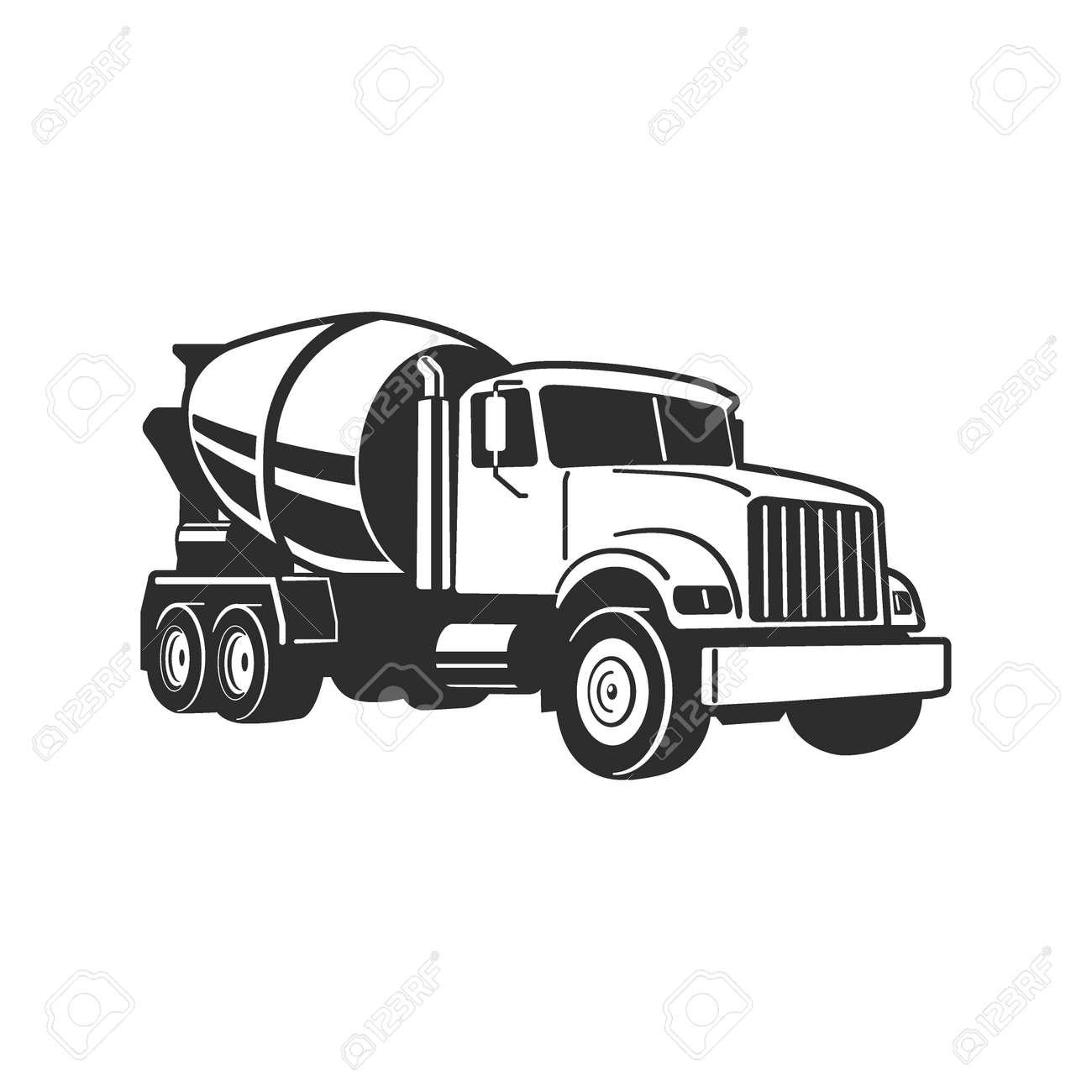 Concrete Mixer Truck. Vector Illustration. Concrete Mixer Truck. Vector Illustration. Concrete Mixer Truck. Vector Illustration - 171160526