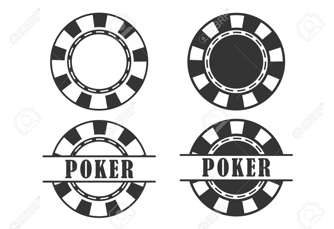 Poker Chip Queen, Texas Holdem, Clubs Playing Card, Gambling, Casino Betting. Design Logo Template. Poker Chip. Poker Chip. Poker Chip - 171300032