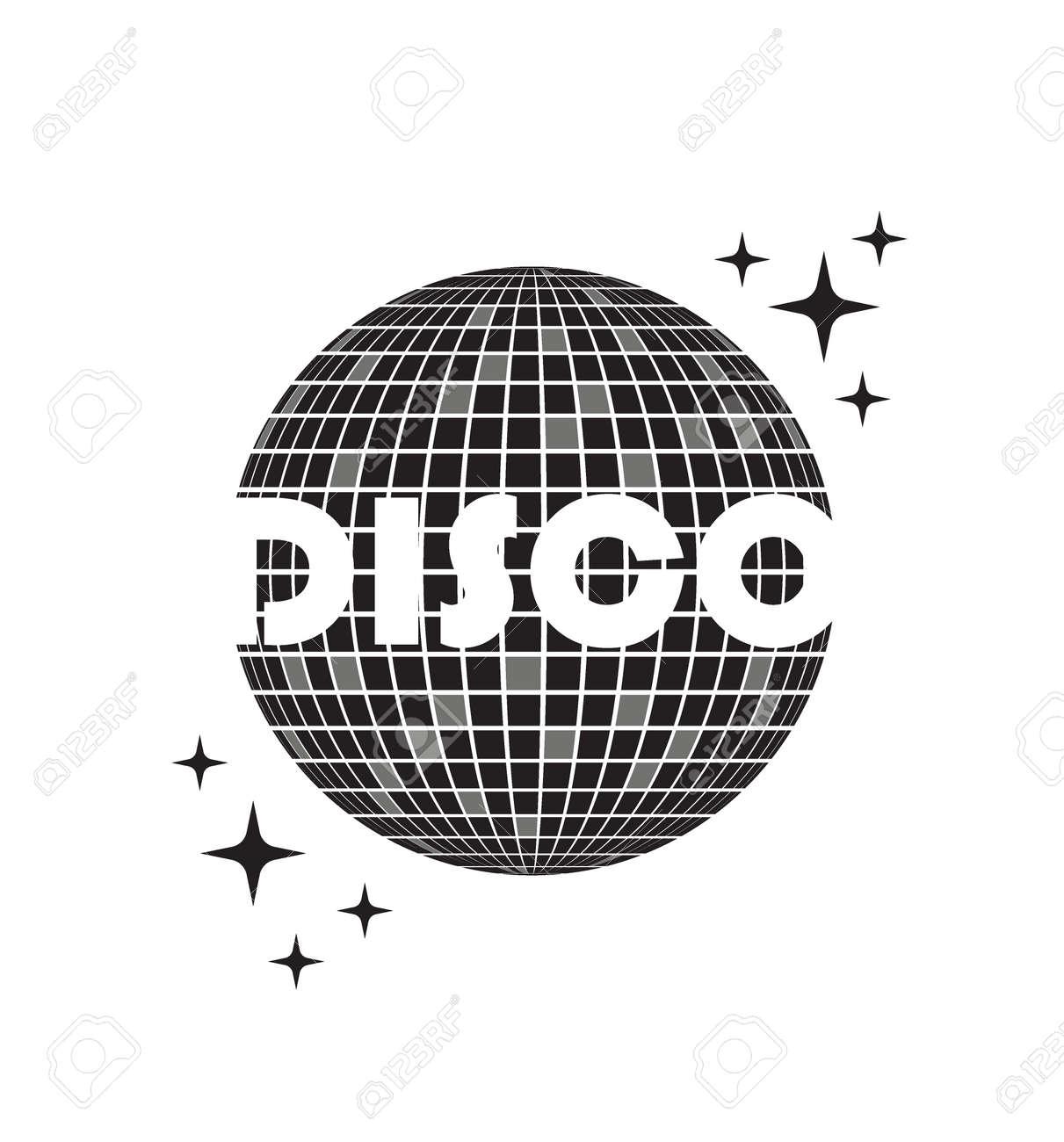 Disco ball Vector icon. Party Template dj - 171750014