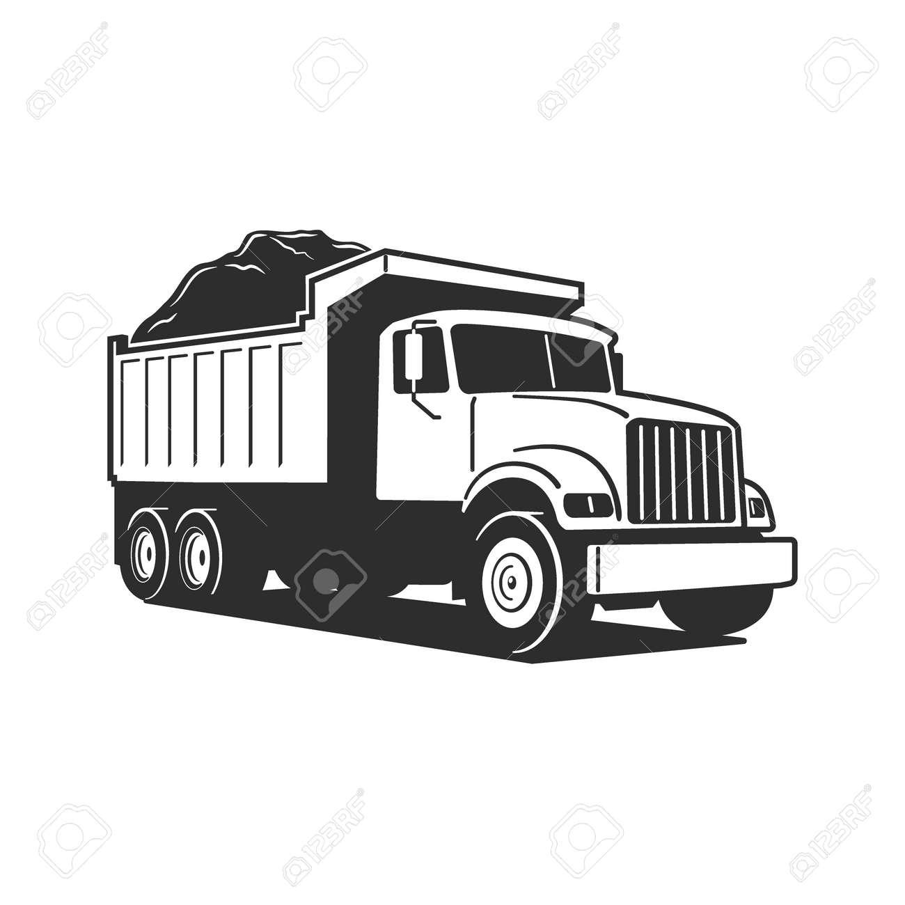 Vector Cartoon Dump Truck. Tipper truck. Vector Cartoon Dump Truck. Vector Cartoon Dump Truck. Tipper truck. - 171729892