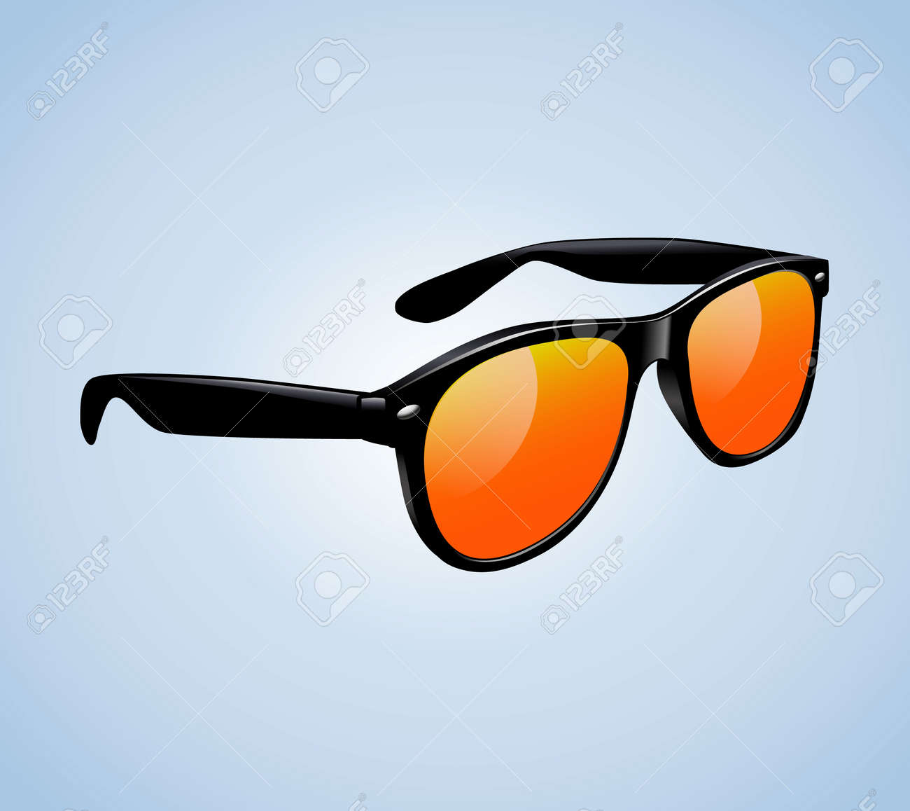Classic Vintage Sunglasses Realistic Isolated Vector Illustration - 172238238