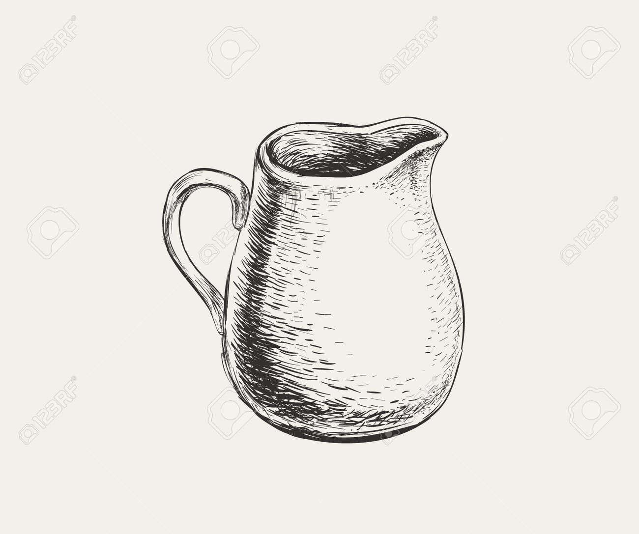 Hand Drawn Sketch Jug. Vector Illustration. - 172478402