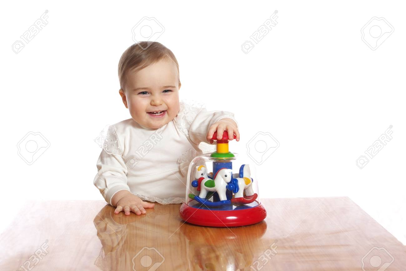 Little pretty child play toy on a table Stock Photo - 19063599