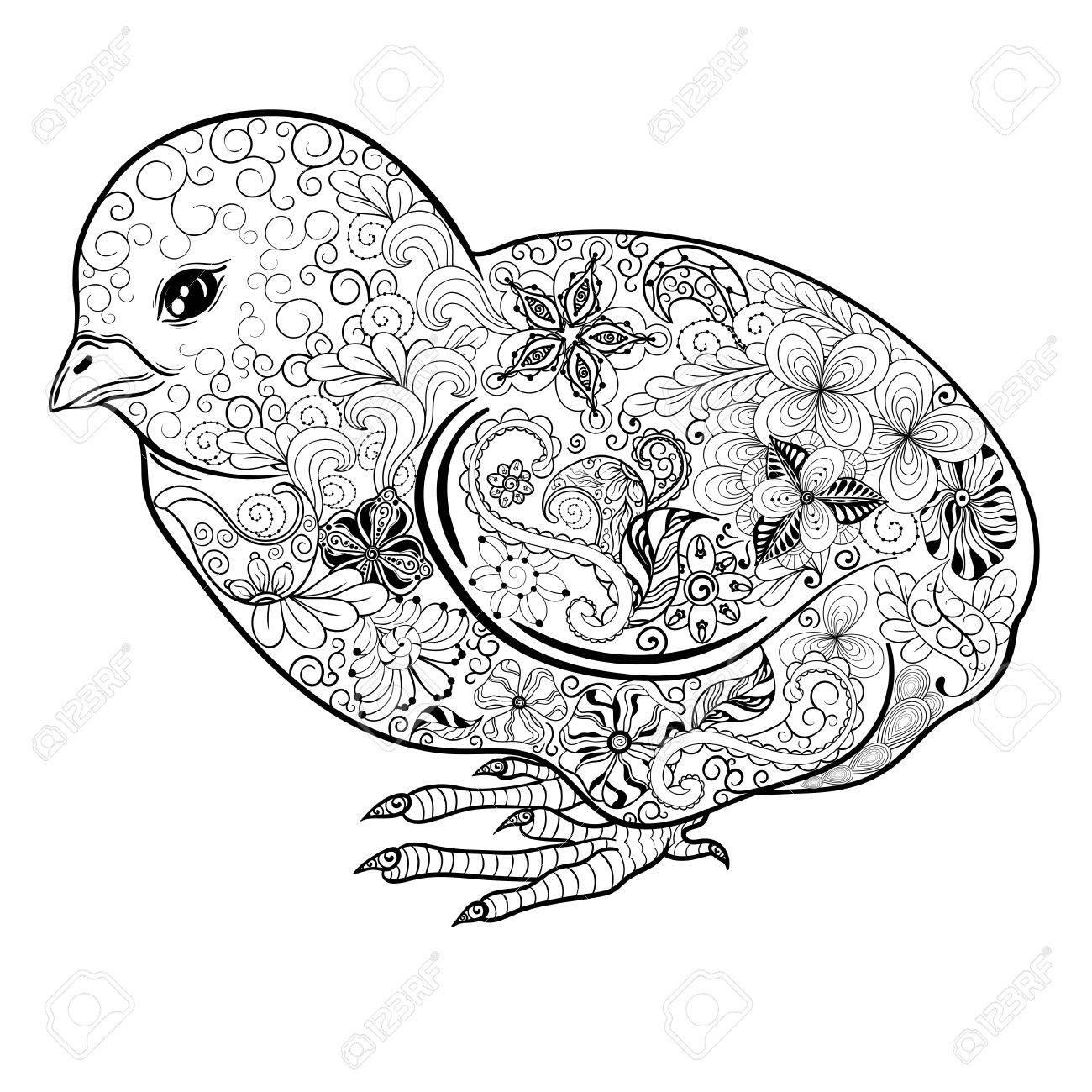Illustrazione Chick è Stata Creata A Scarabocchiare Stile Nei