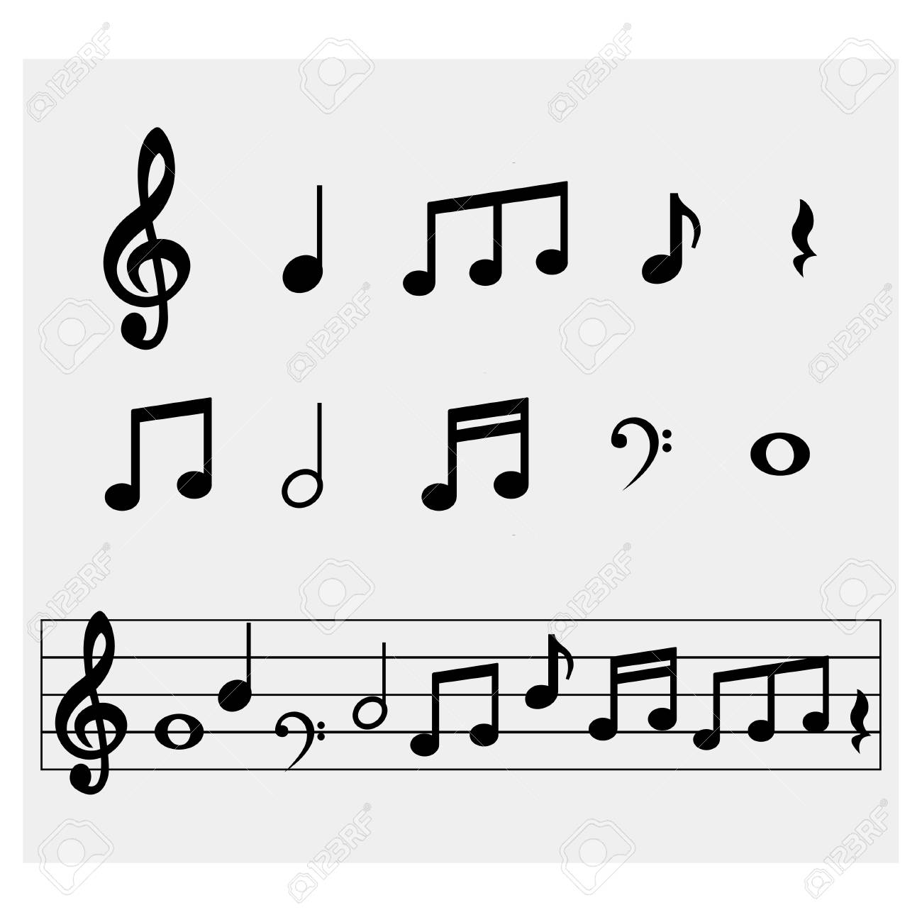 Music notes - 70186910