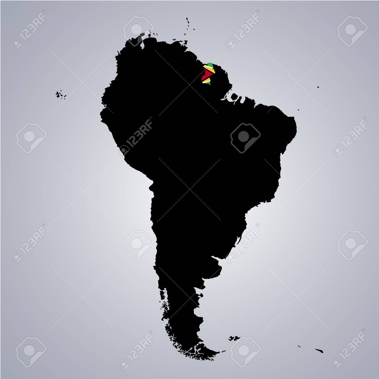 Territory and flag of guyana on south america map on grey background territory and flag of guyana on south america map on grey background stock vector 89266849 gumiabroncs Image collections