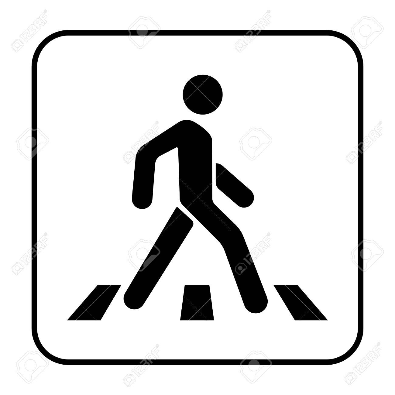 横断歩道と白い背景の通行人のイラスト素材ベクタ Image 90089660
