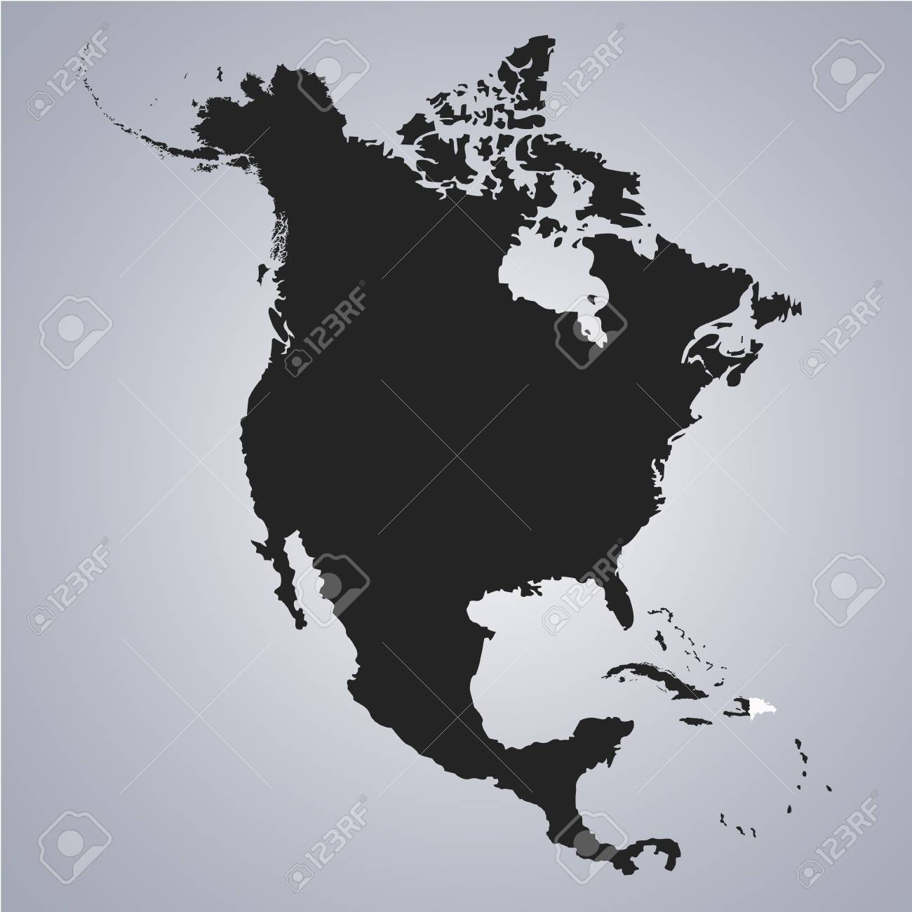 territory of dominican republic on north america continent map