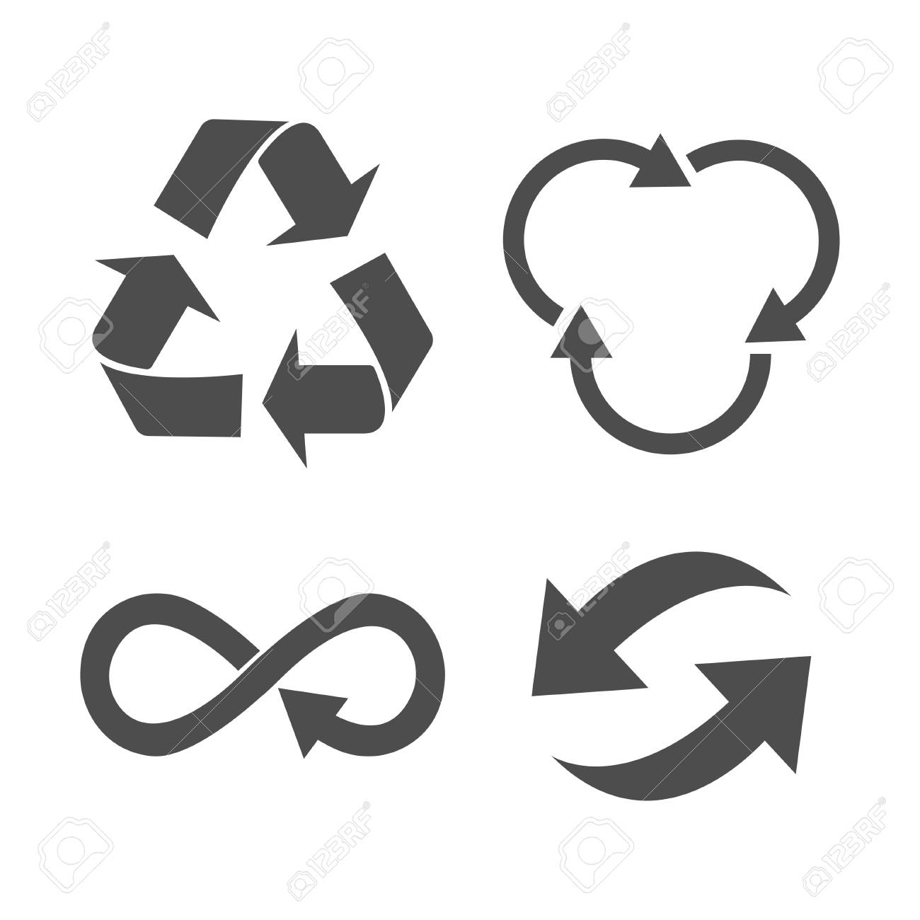 Eco Organic Ecology Recycle Symbol Or Sign Royalty Free Cliparts