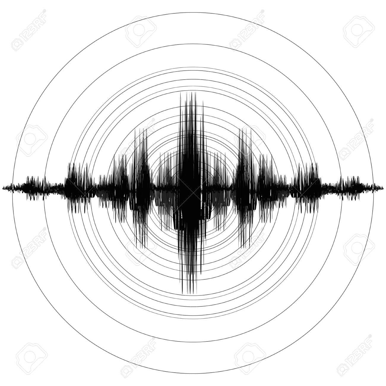 Earthquake. Richter Earthquake Magnitude Scale. Vector illustration - 112219295
