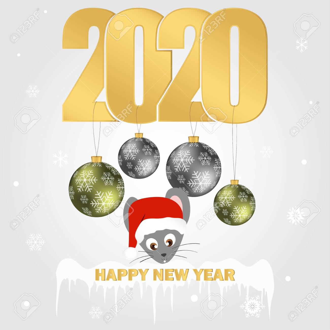 Present Christmas 2020 Happy New Year 2020. Christmas tree Decorations, Present