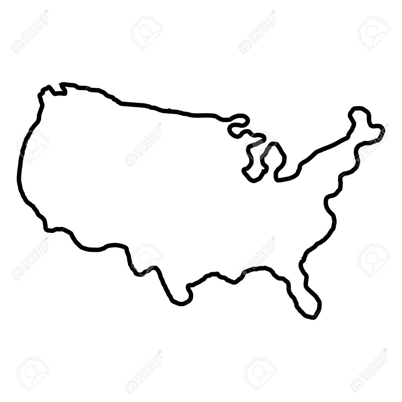 States of America territory on white background. North America. Vector illustration. - 139656694