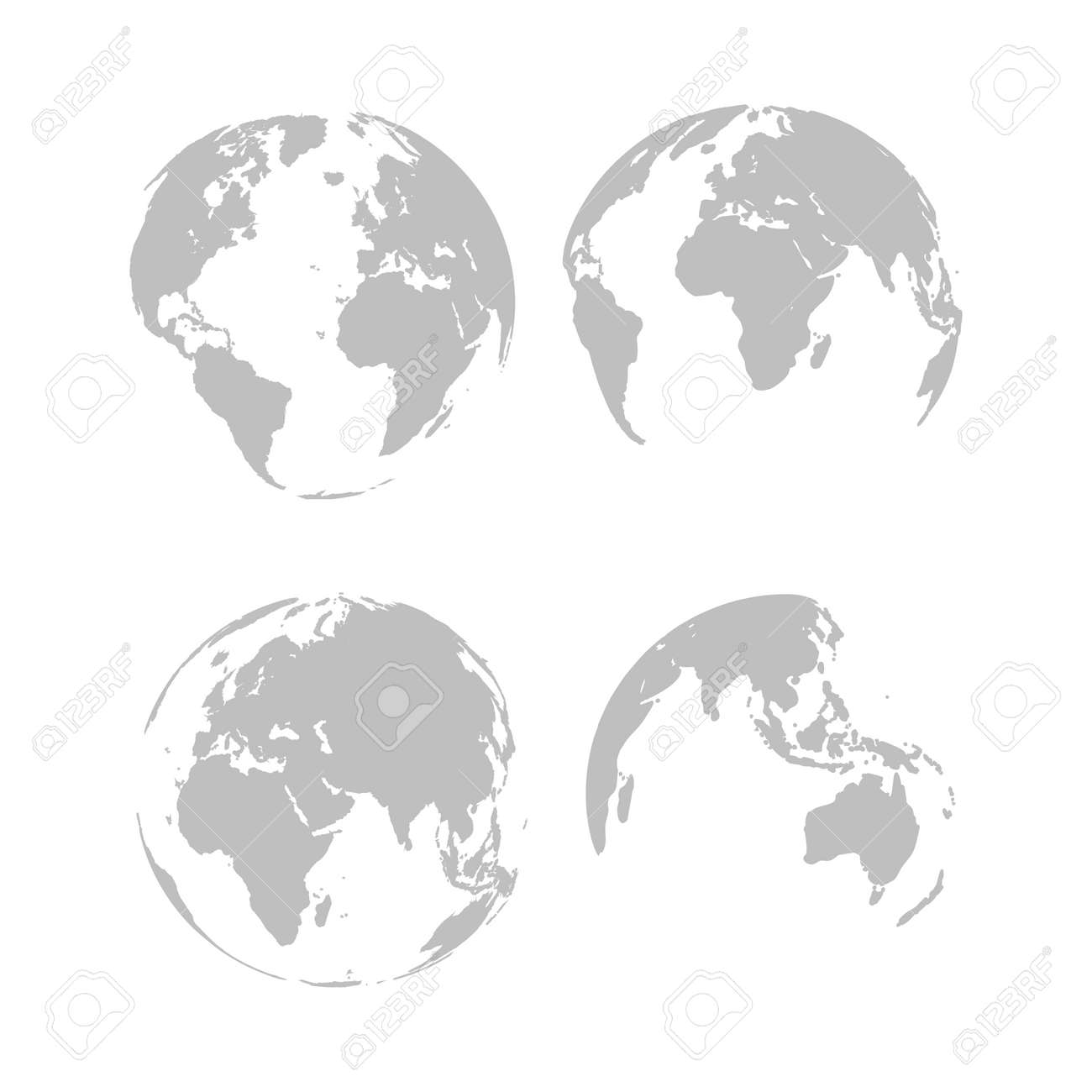 Planet Earth. Earth Day. The Earth, World Map on white background. Vector illustration. EPS 10 - 167347481