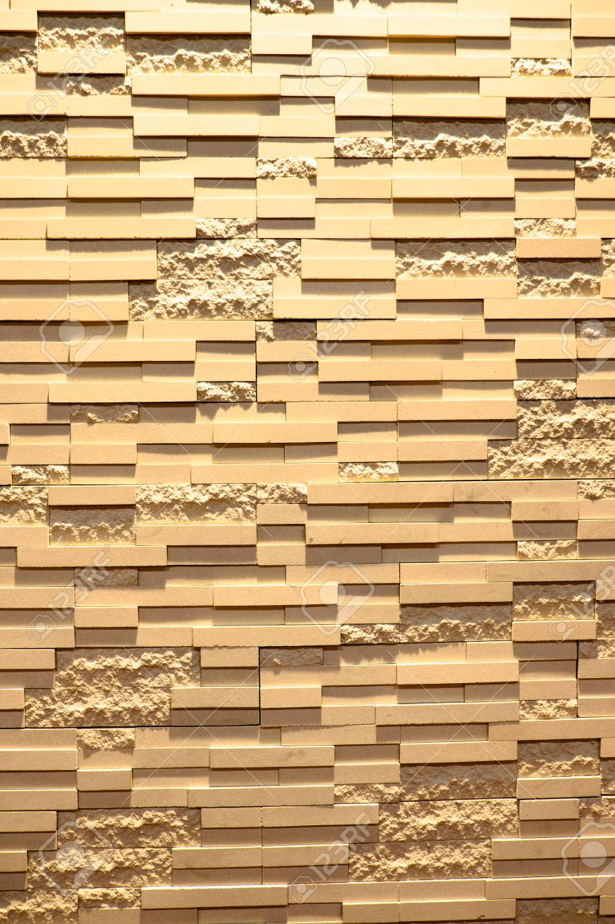 Pattern Of Decorative Stone Wall Background Stock Photo, Picture And ...
