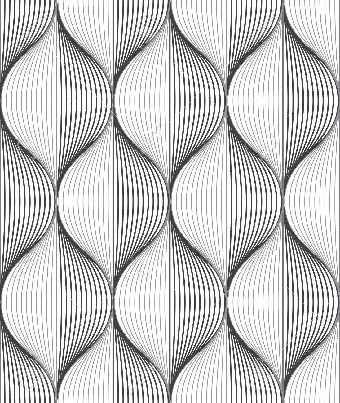 Seamless Ripple Pattern. Trendy Vector Texture. Stylish Background With  Diagonal Direction Stock Vector