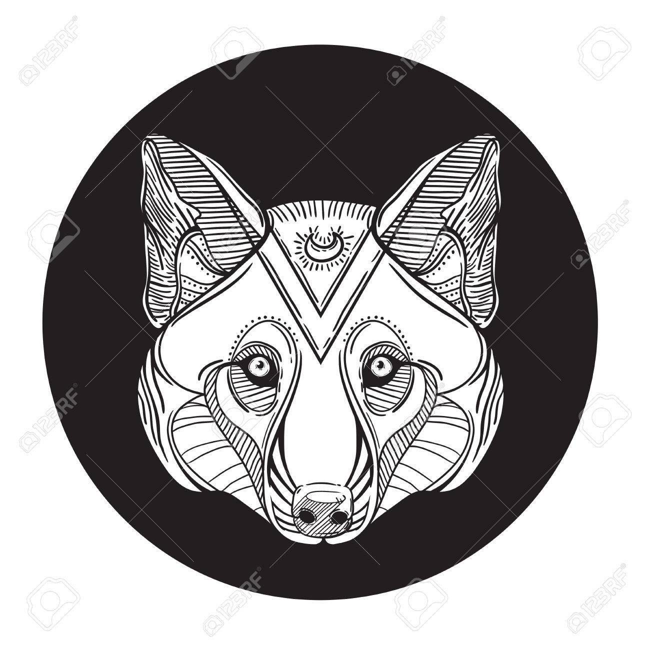 Coloriage Adulte Loup.Tete De Loup Animal Imprimer Pour Coloriage Anti Stress Adulte Main