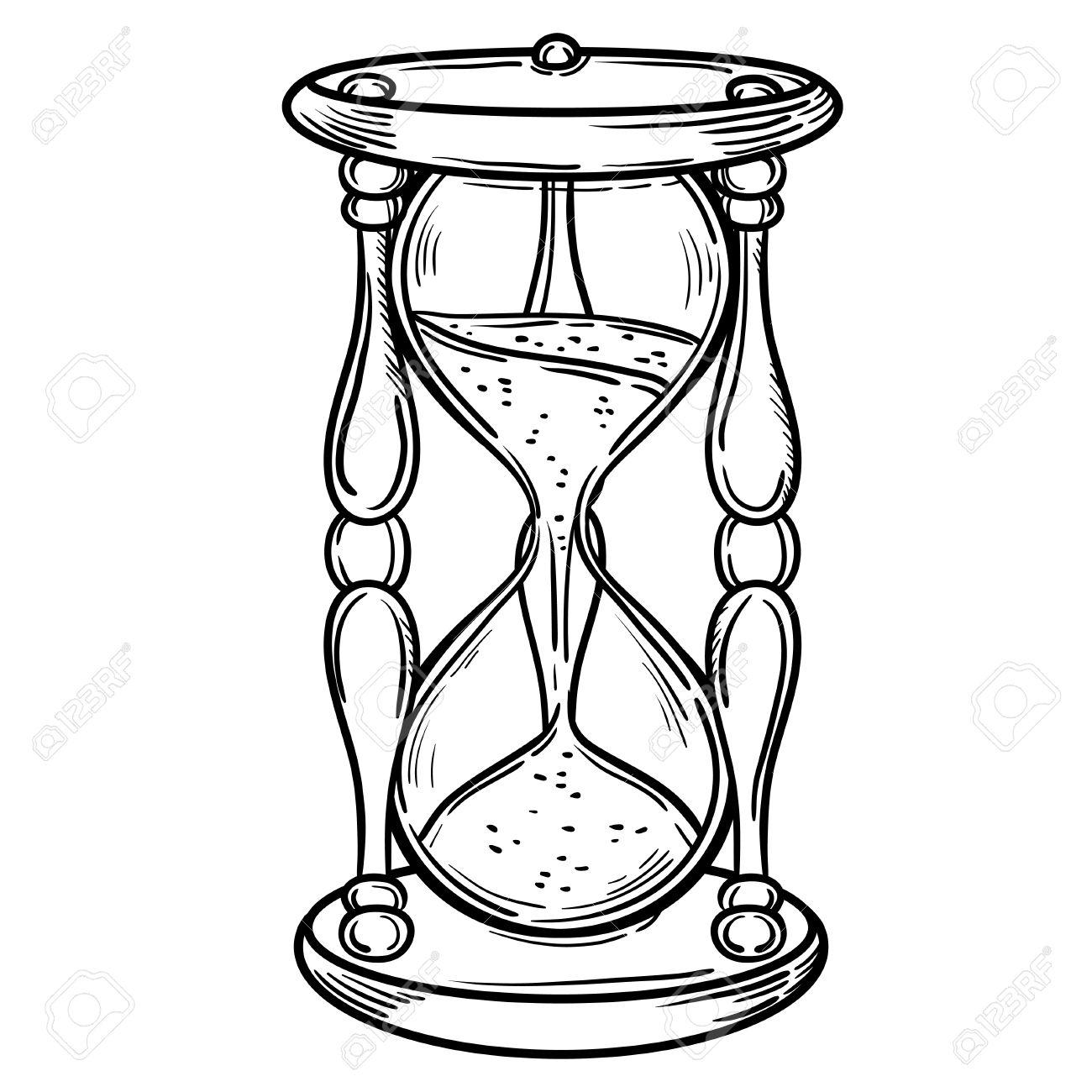 Películas Antiguos Reloj De Arena De La Ilustración Aislado En