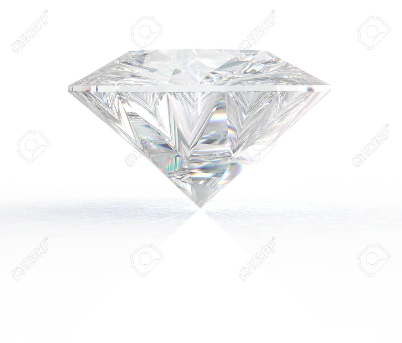 3d render gemstone. Diamond jewel on background. - 149551175