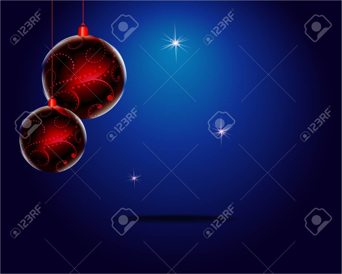 Bolas De Navidad De Colores Sobre Fondo De Color Oscuro ...