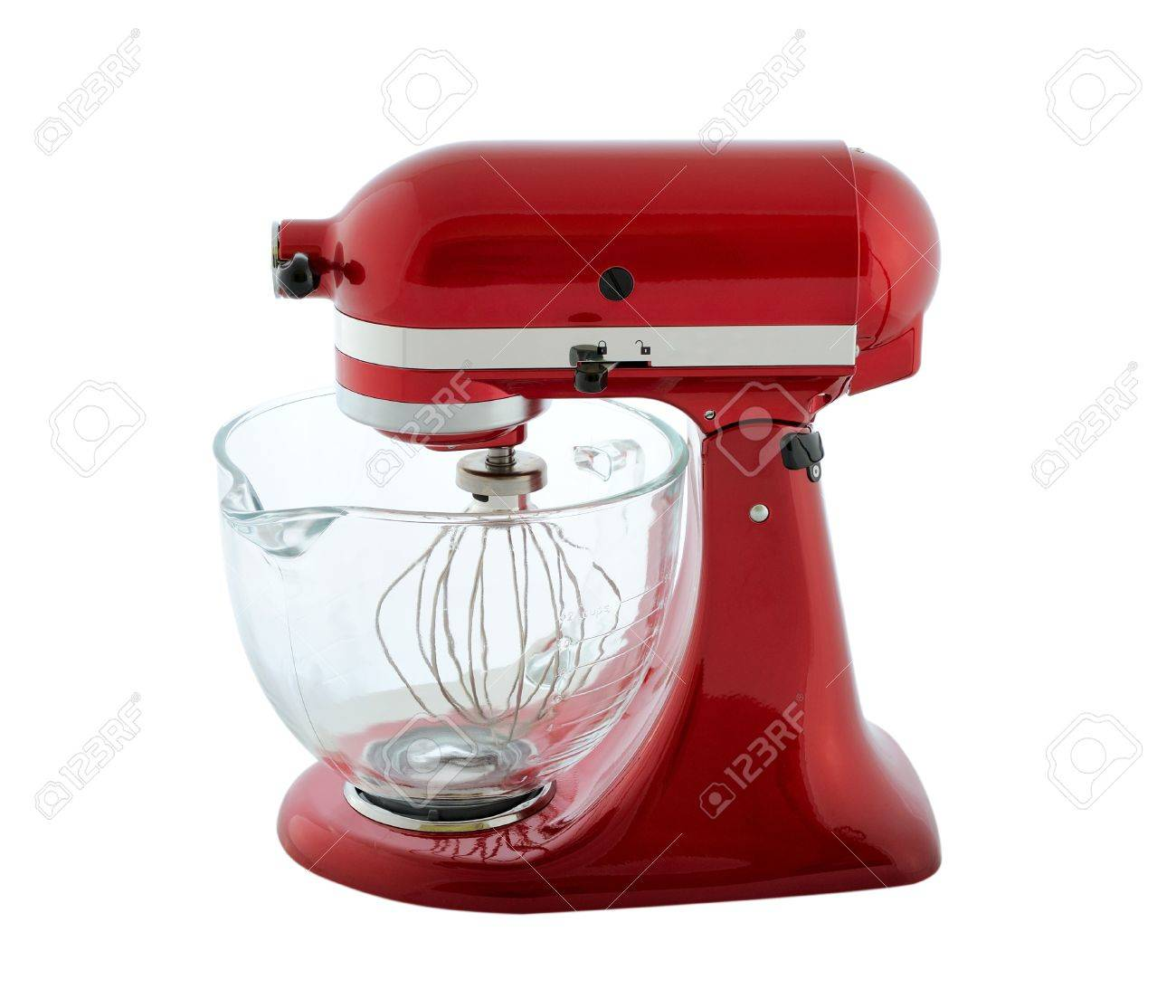 Kitchen Appliances - Red Planetary Mixer With A Transparent Bowl ...