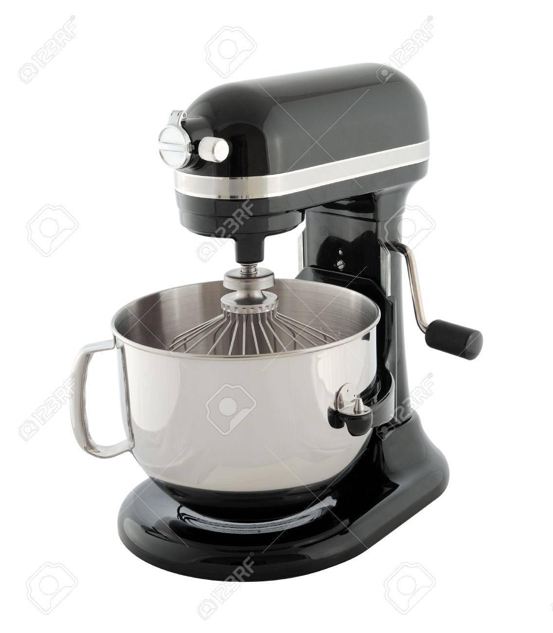 Kitchen Appliances - Black Planetary Mixer, Isolated On A White ...
