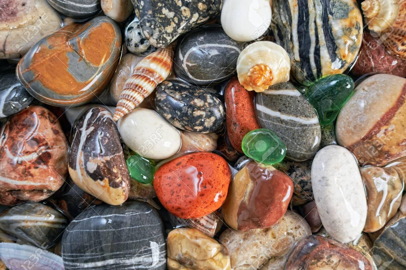 Sea pebble background  Abstract texture Stock Photo - 17935657