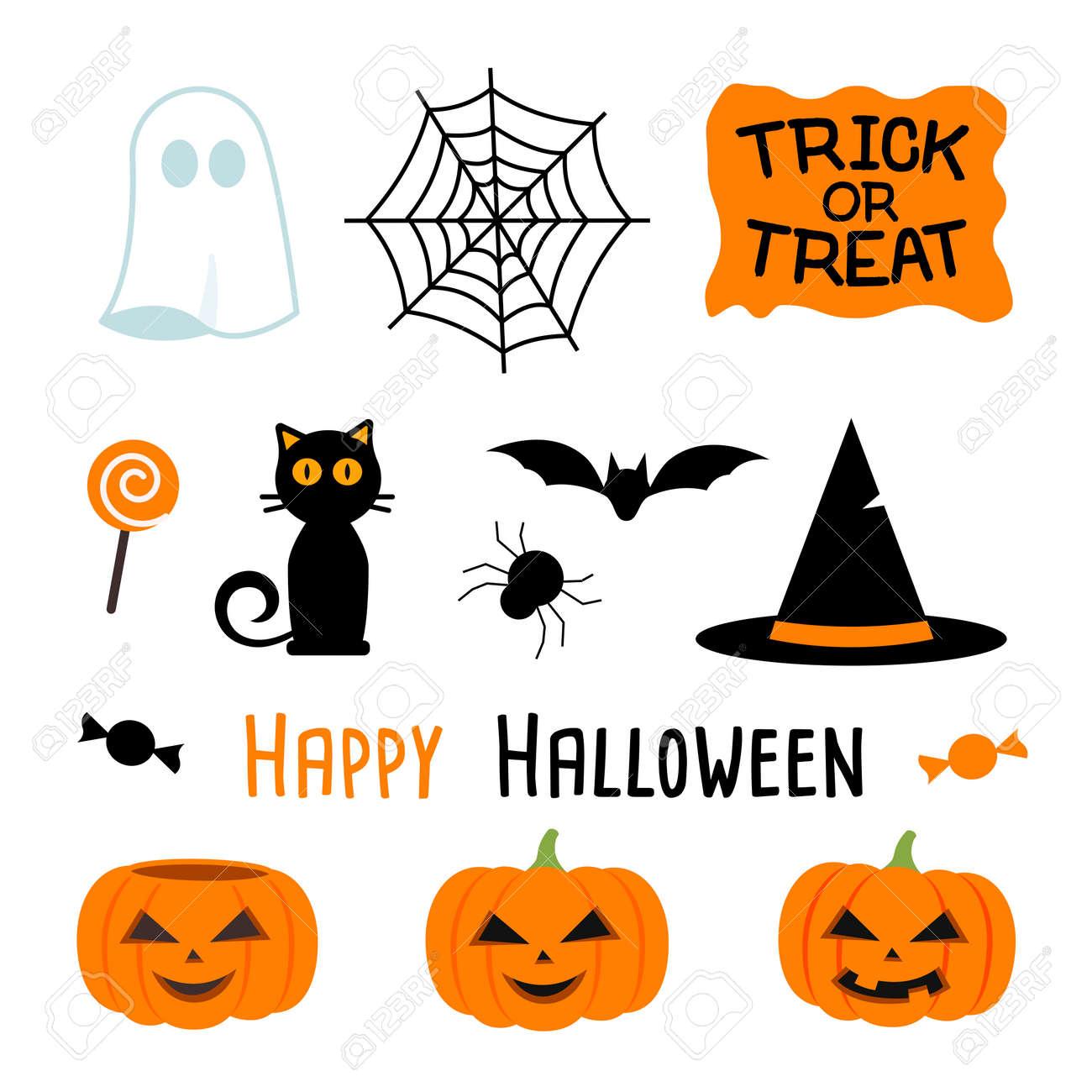 vector illustration of halloween party set - 157417184