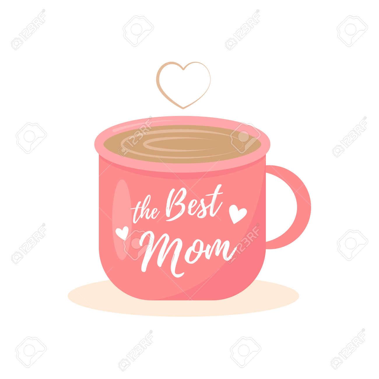 The Best Mom with cup illustration - 165908921