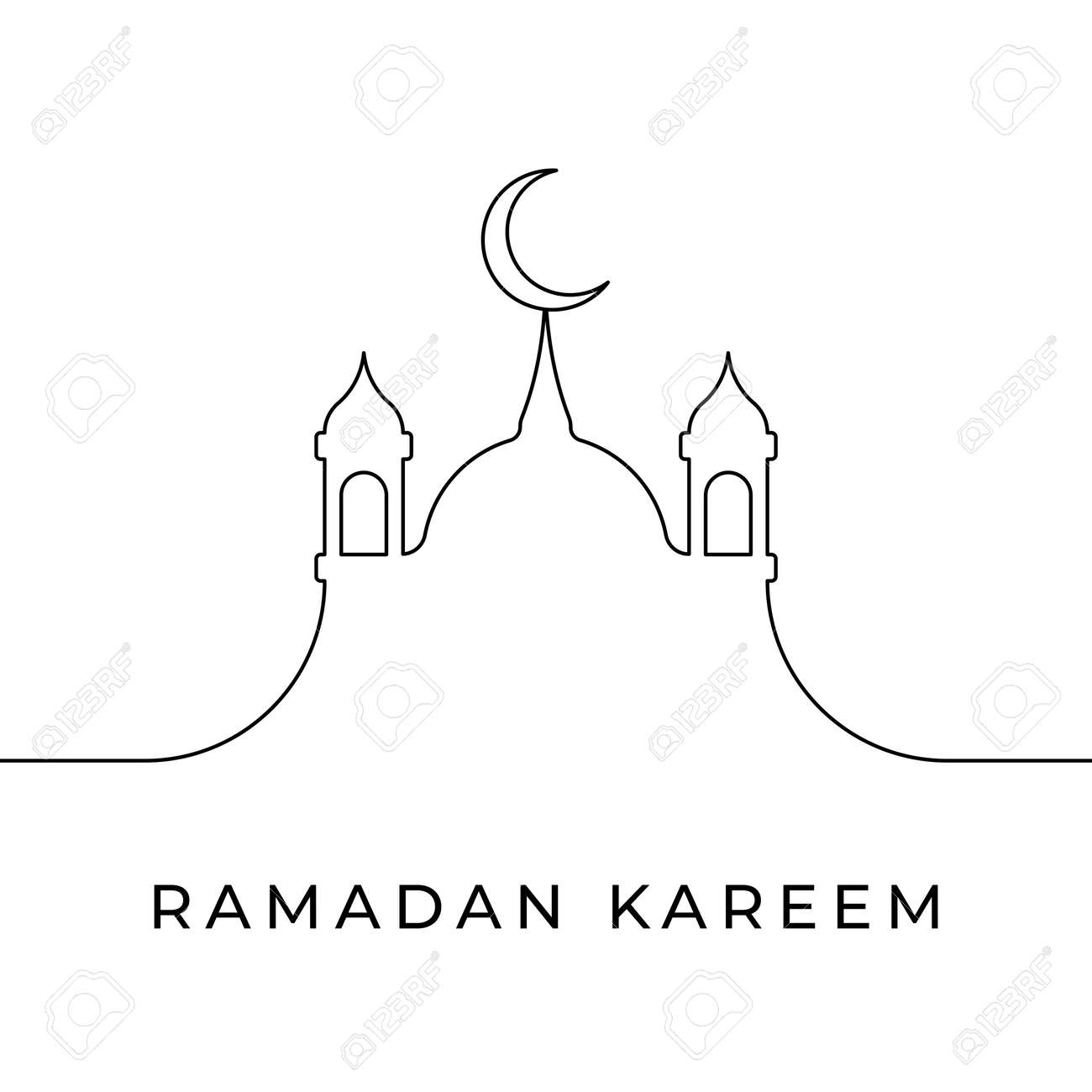 Elegant ramadan kareem decorative festival card - 168786262