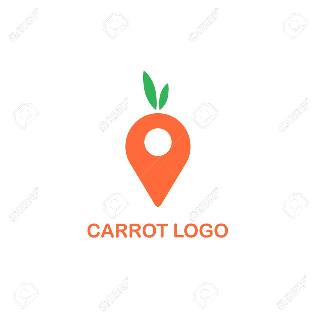 carrot pin logo icon design vector, market logo design - 168786270