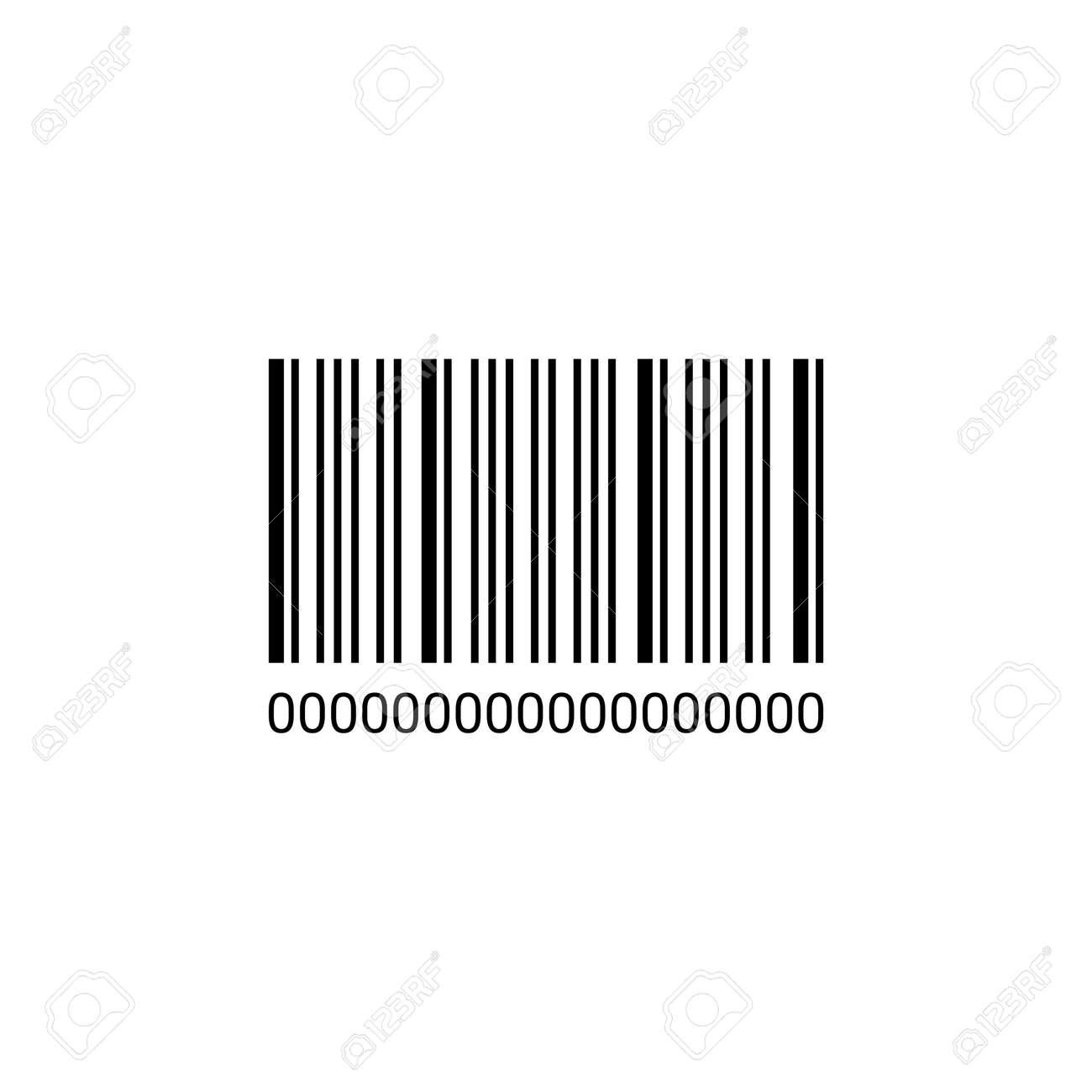The barcode icon. Identification and ID symbol. Flat illustration. - 168786275