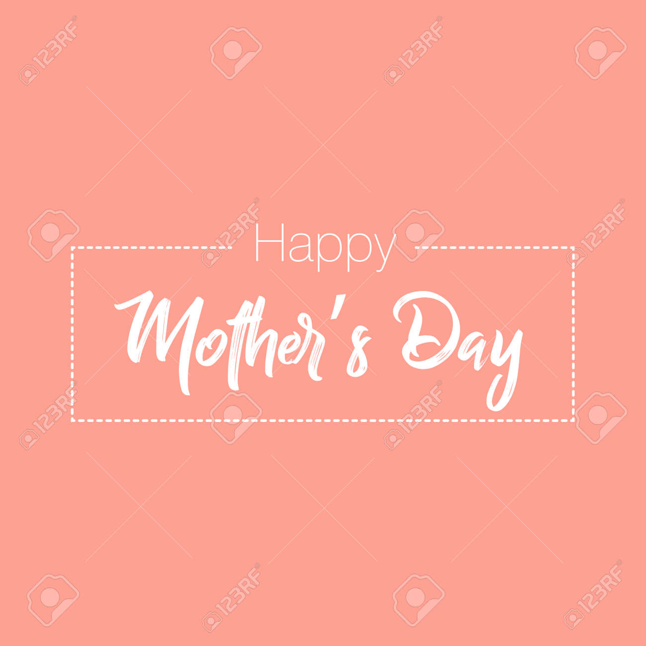 Happy Mother's Day elegant lettering banner. Calligraphy vector text for Mother's Day. Best mom ever greeting card - 168544086