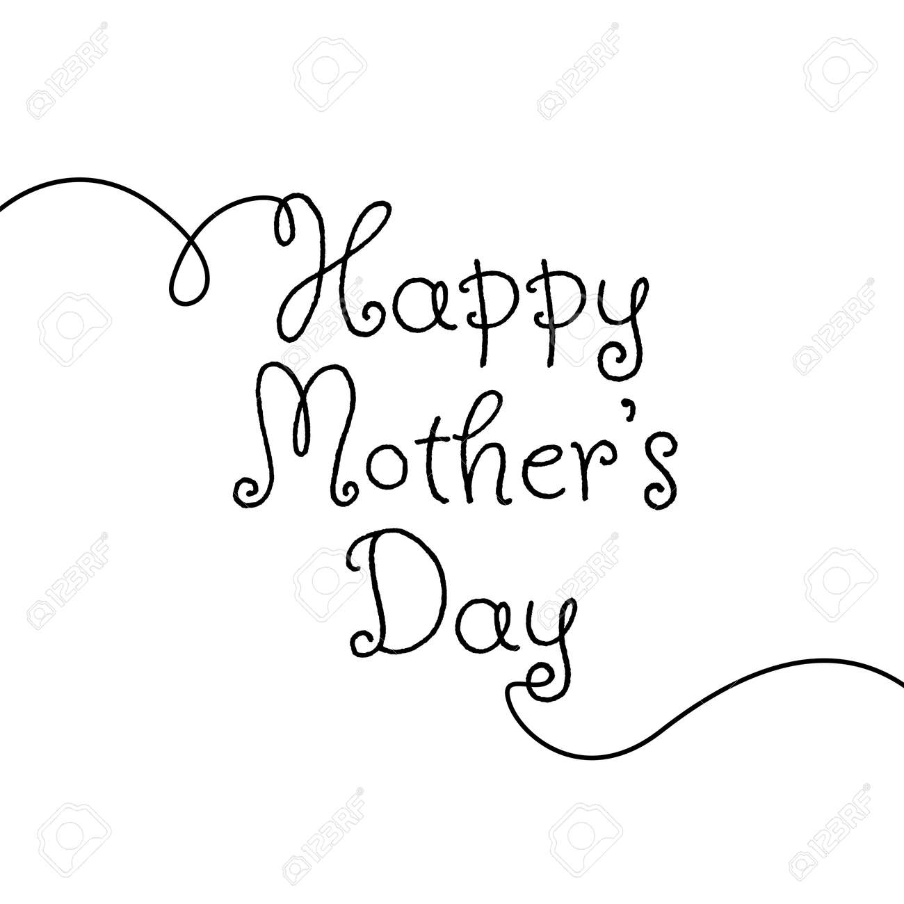 Happy Mother's Day. Vector illustration - 168543790