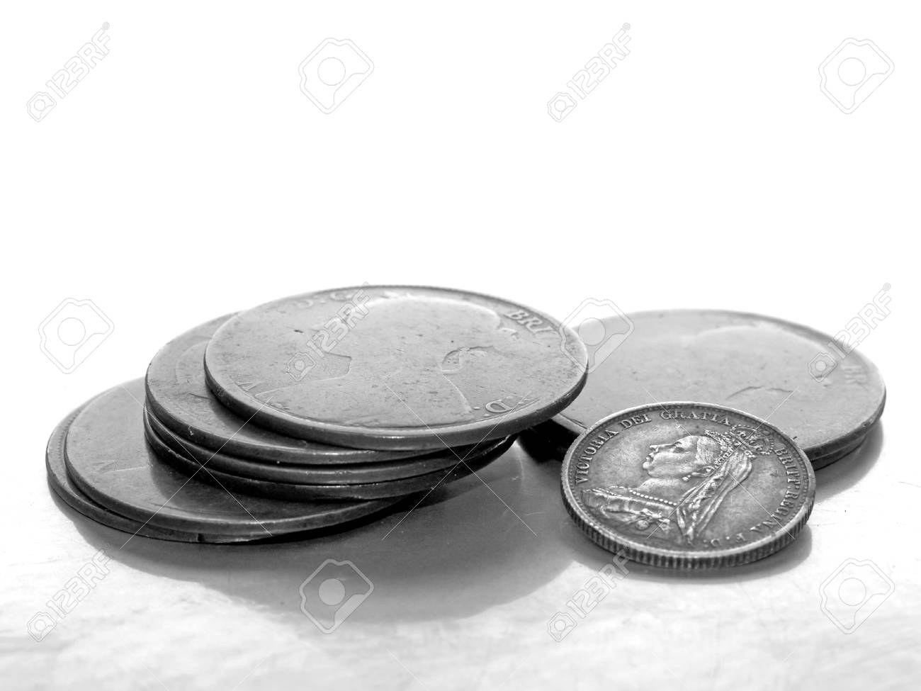 Young and old,vintage coins. Stock Photo - 558595