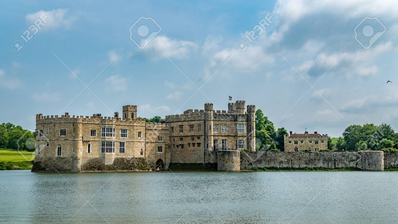 View Of A Moated Medieval Castle In England Stock Photo Picture And