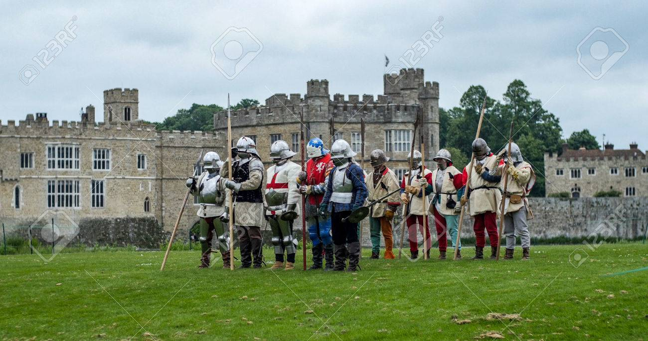 Stock Photo View Of Medieval Foot Soldiers With Spears