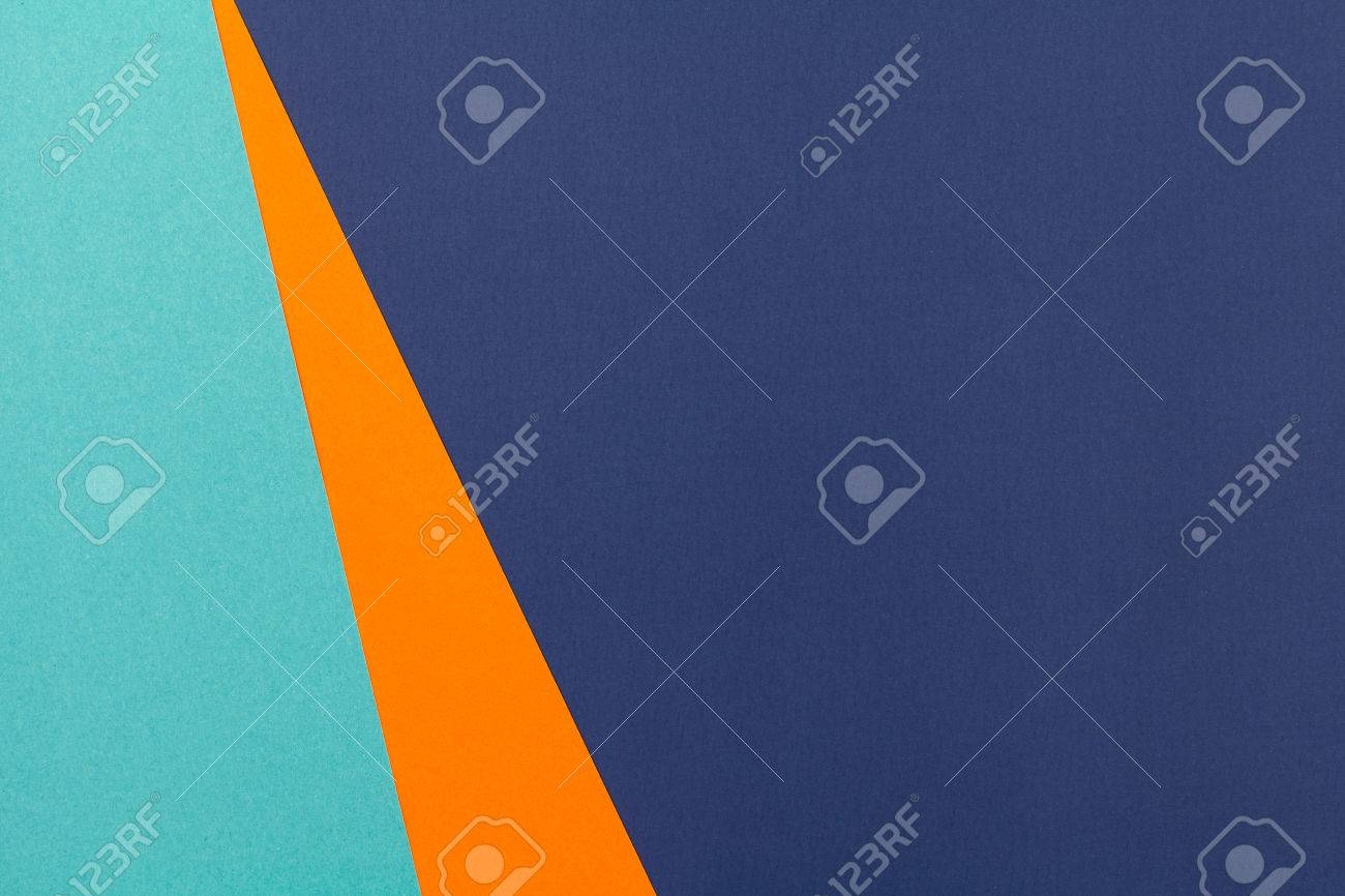 color papers geometry flat composition background with blue and