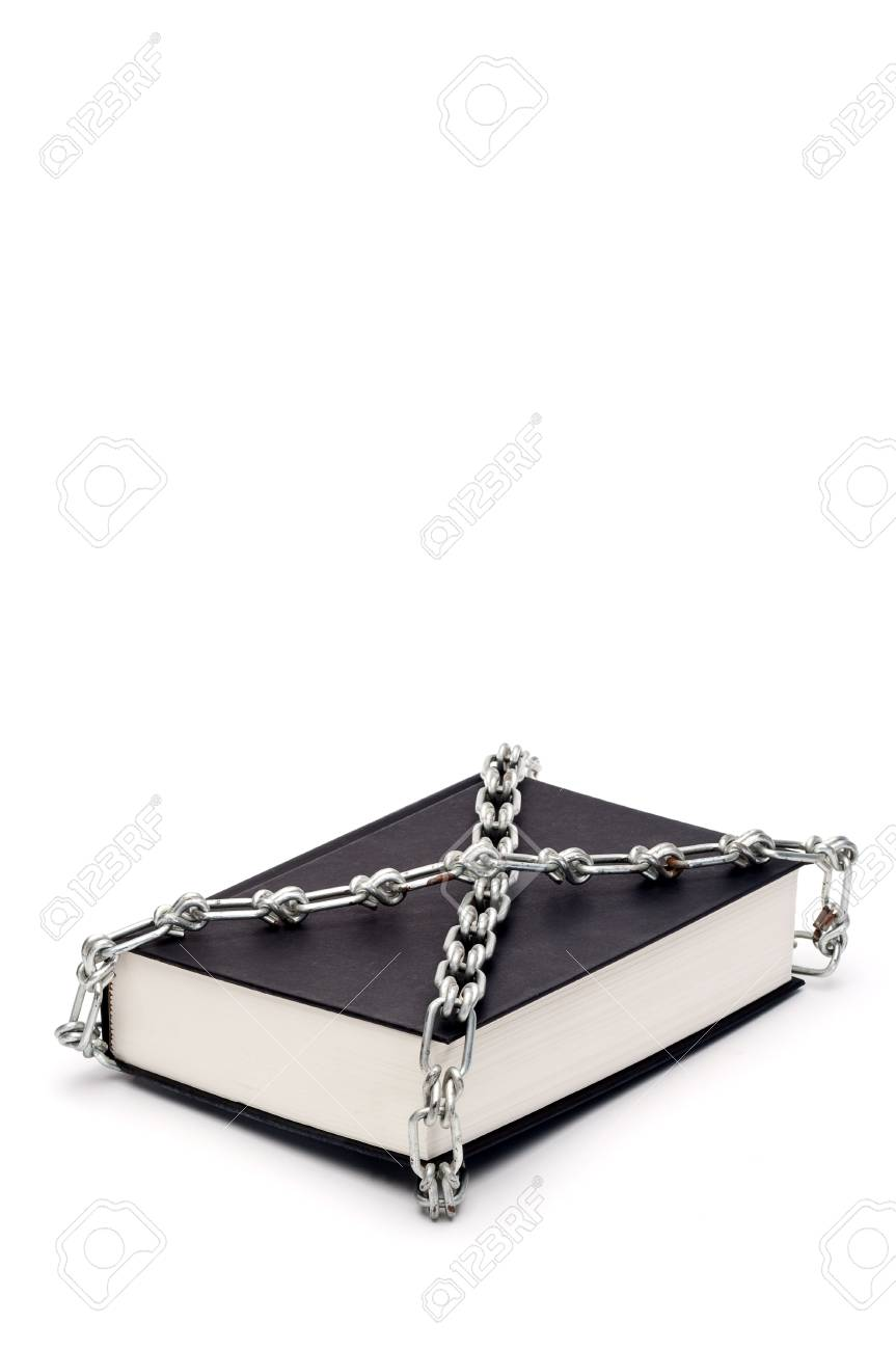 Vertical book chained in censorship Stock Photo - 5492245