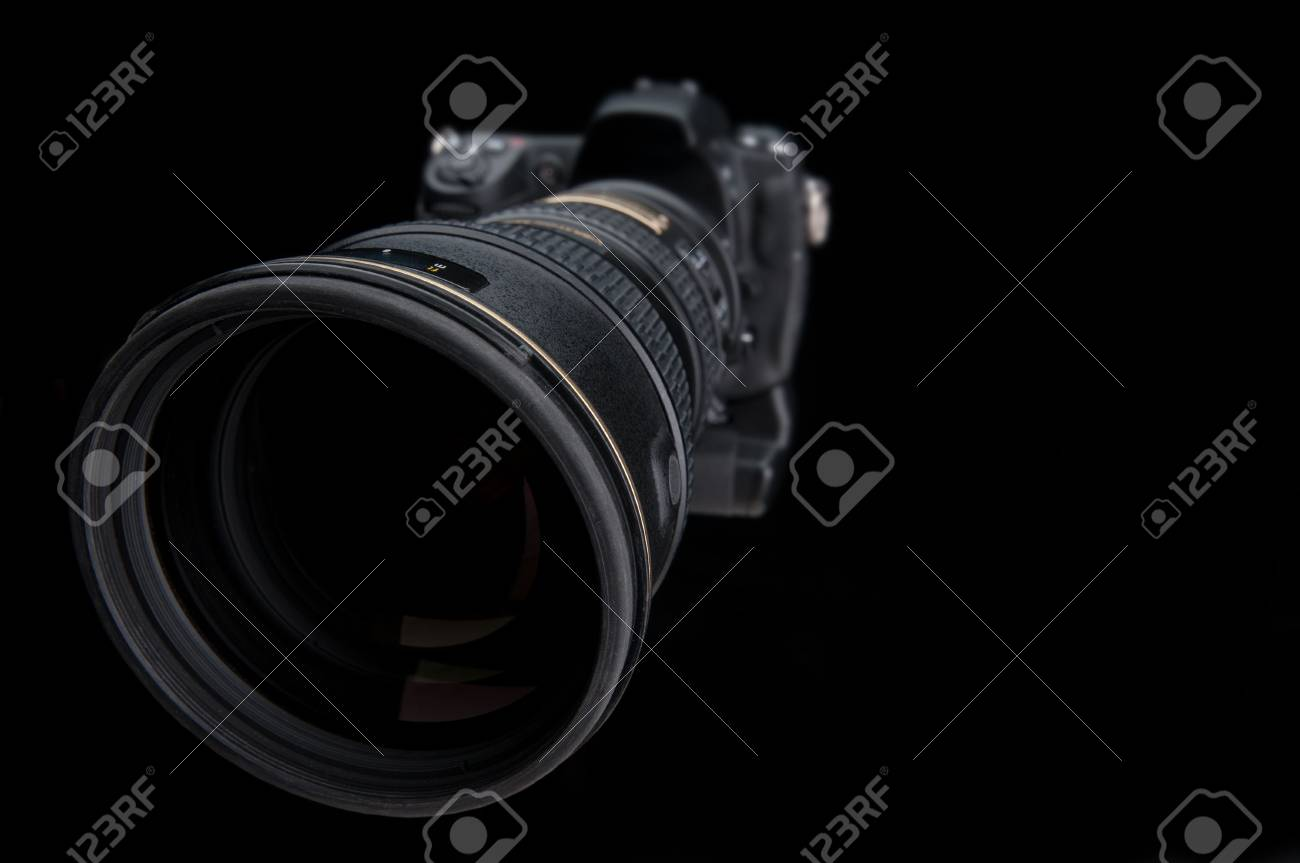 Extreme wide angle close up of a large lens on a camera Stock Photo - 6900890