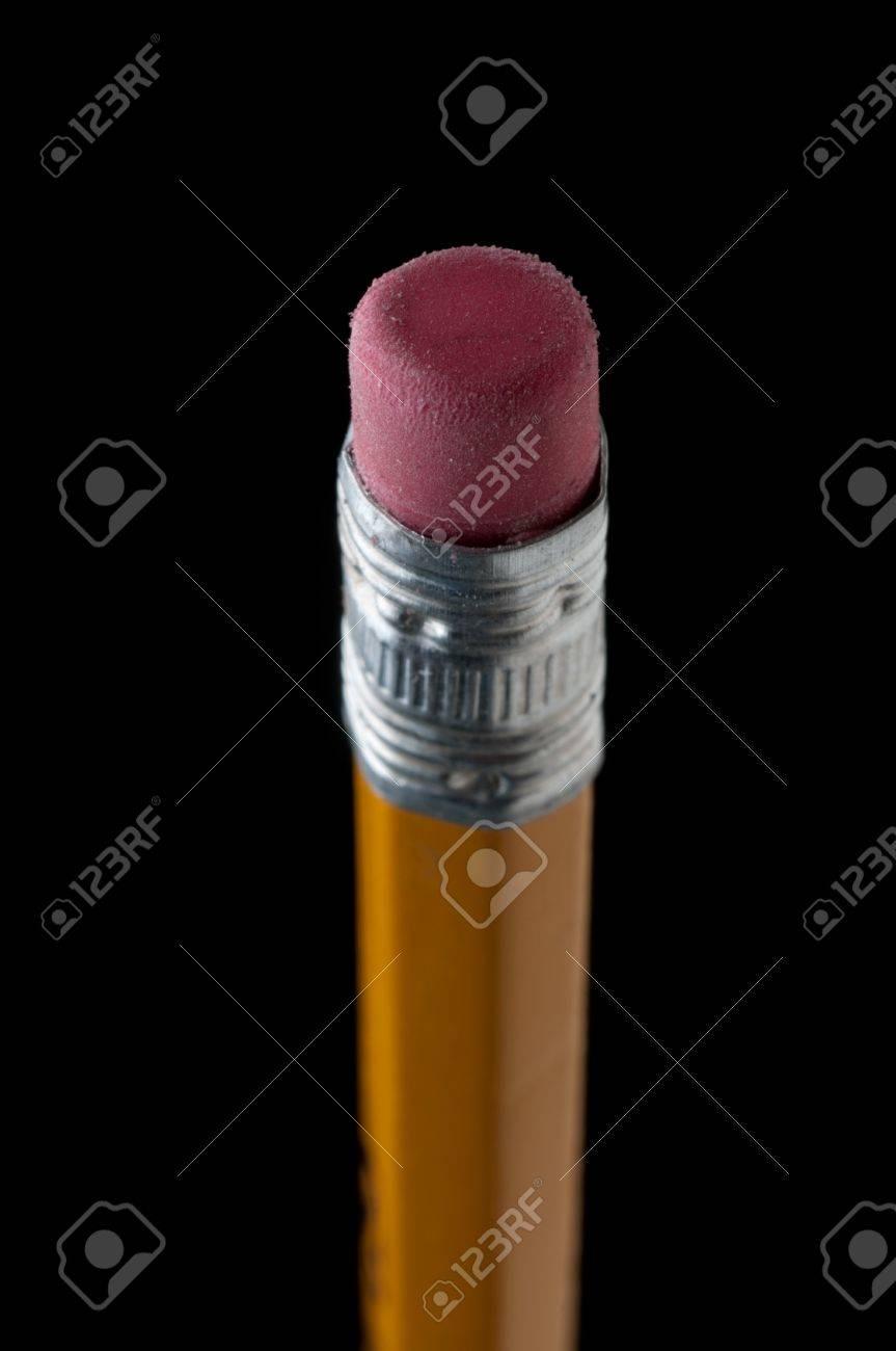 Shallow focus macro of a pencil eraser on black Stock Photo - 7152673